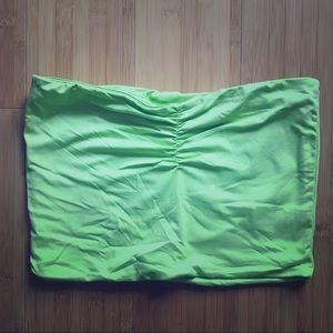 Neon yellow-green bandeau from forever 21!